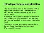 interdepartmental coordination