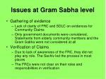 issues at gram sabha level27