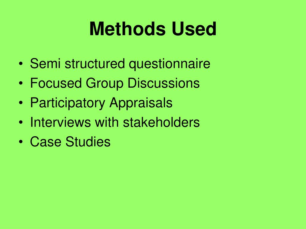 Methods Used