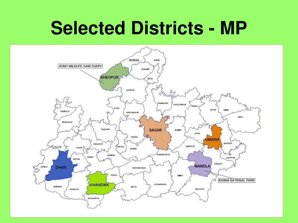 Selected Districts - MP