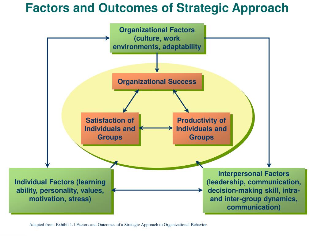 Organizational Factors (culture, work environments, adaptability