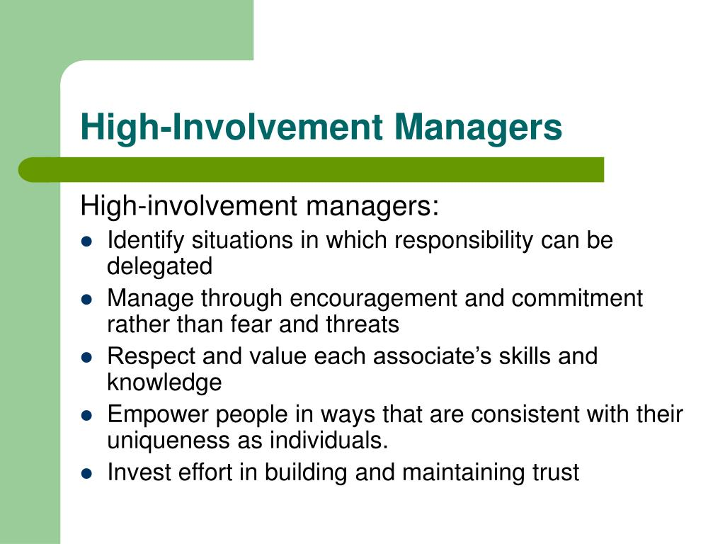 High-Involvement Managers