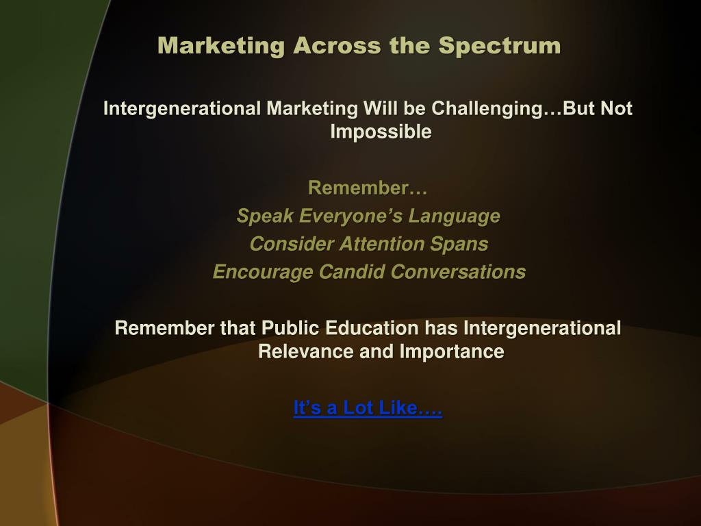 Marketing Across the Spectrum