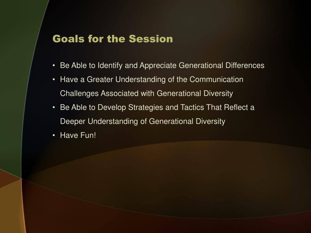 Goals for the Session