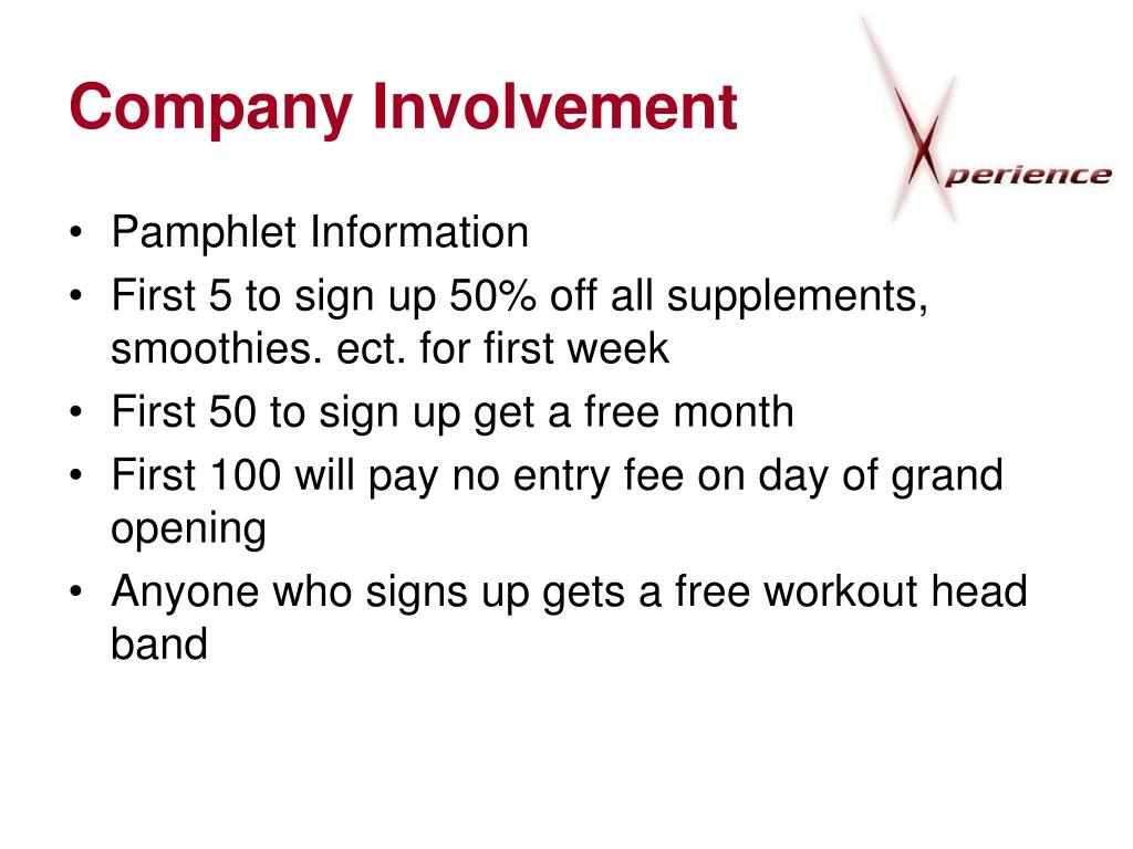 Company Involvement