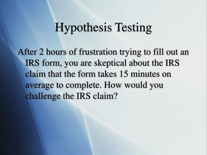 a hypothesis is a claim