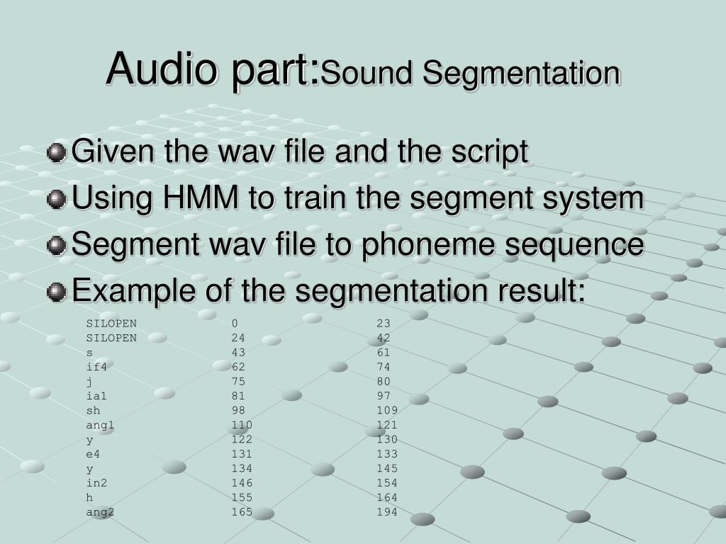 Audio part: