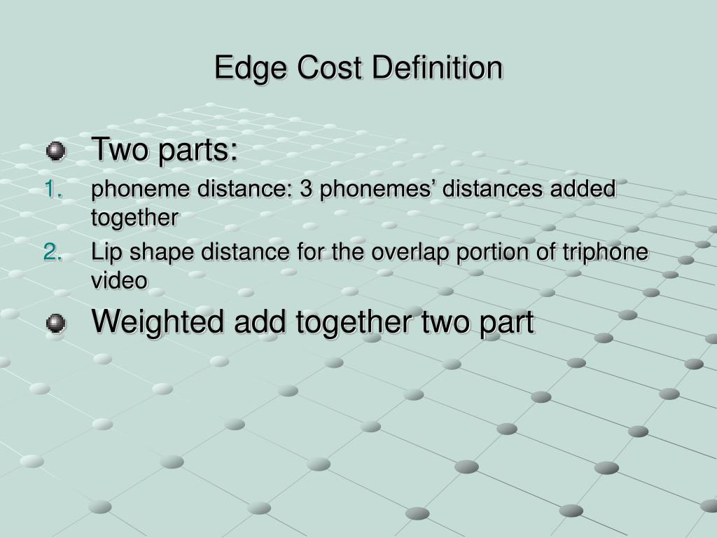 Edge Cost Definition