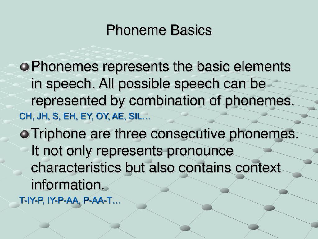 Phoneme Basics