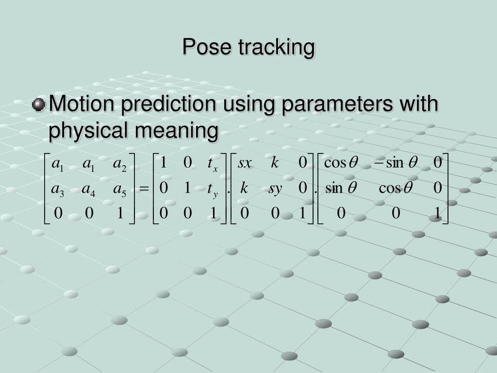 Pose tracking