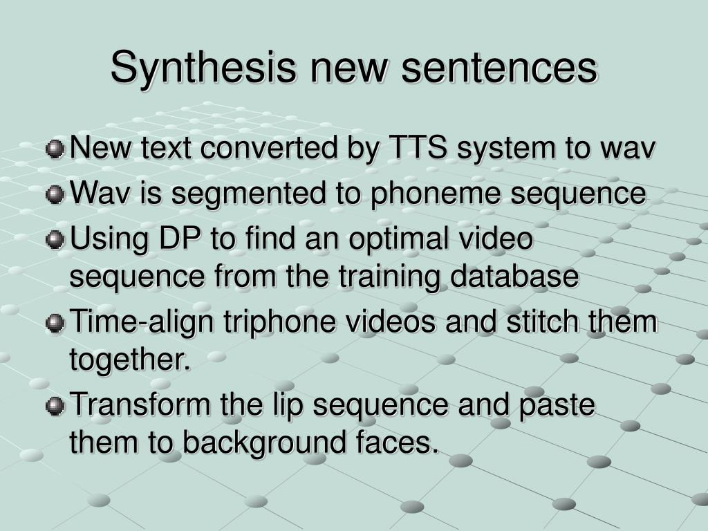 Synthesis new sentences