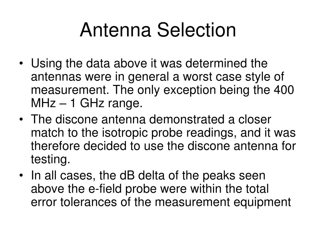 Antenna Selection
