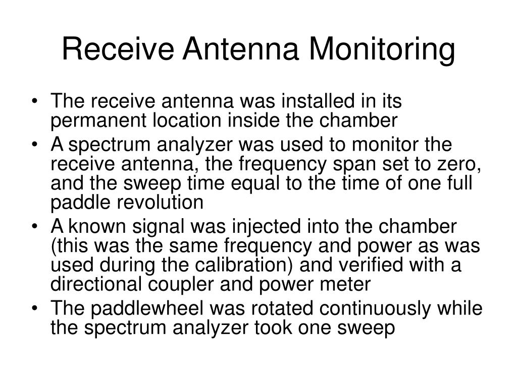 Receive Antenna Monitoring