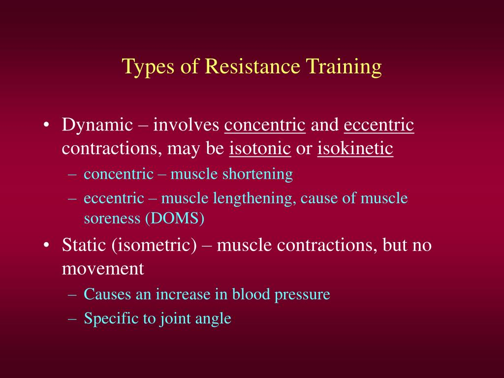 Types of Resistance Training