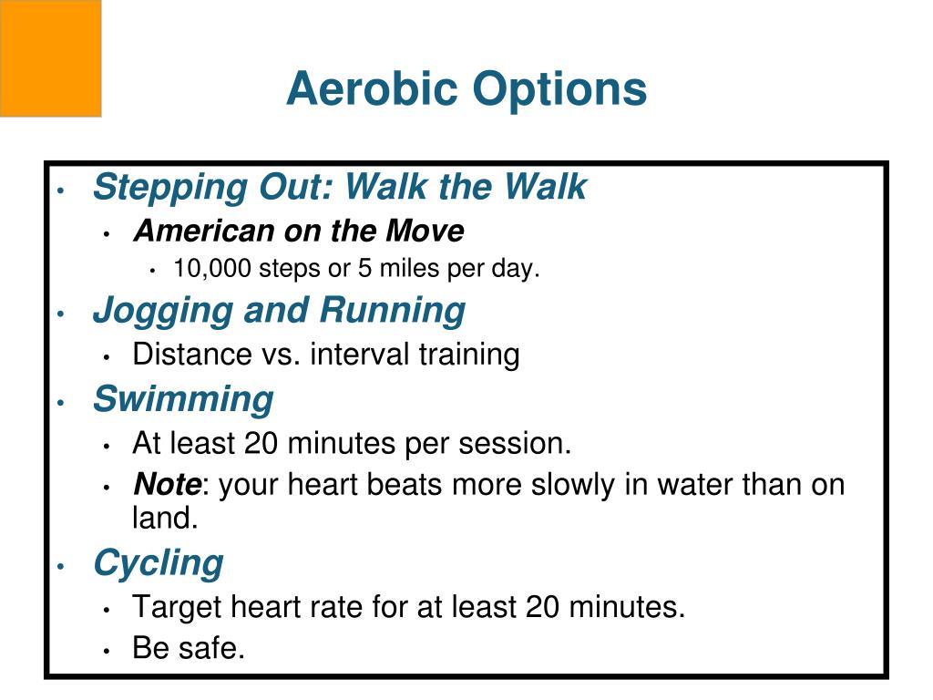 Aerobic Options