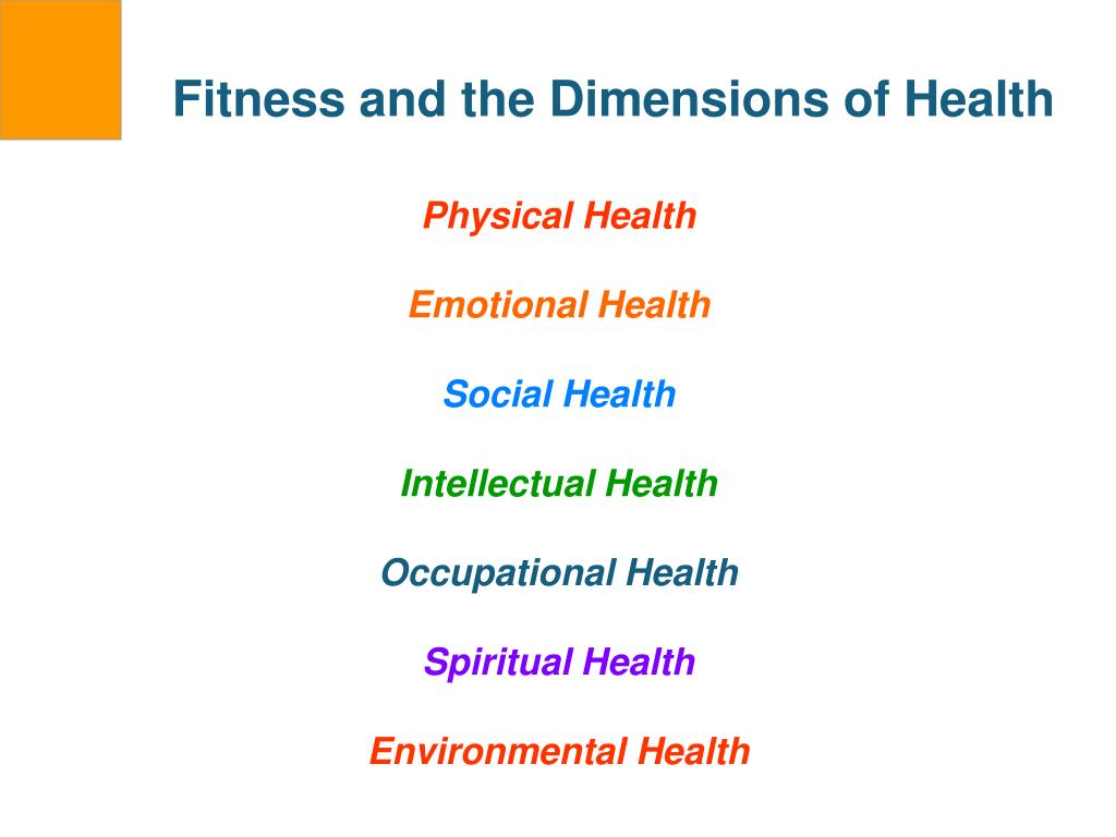 Fitness and the Dimensions of Health