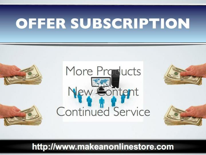 Offer subscription