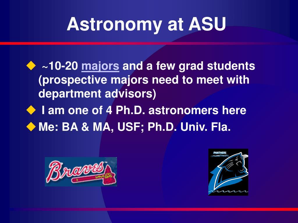 Astronomy at ASU