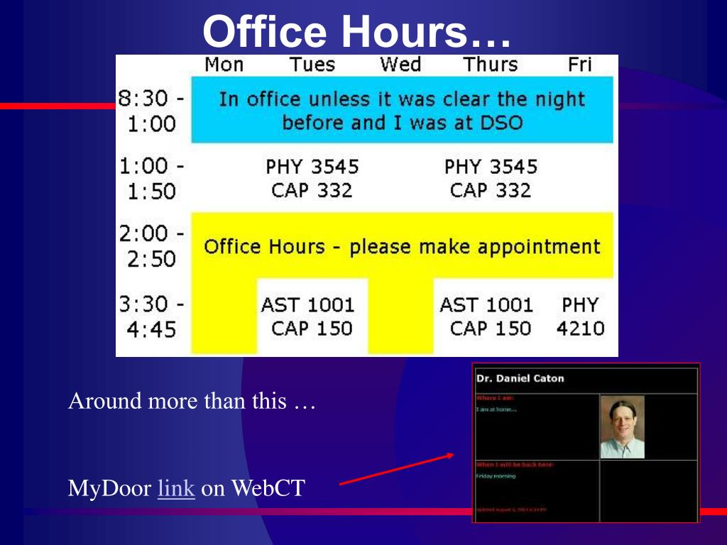 Office Hours…