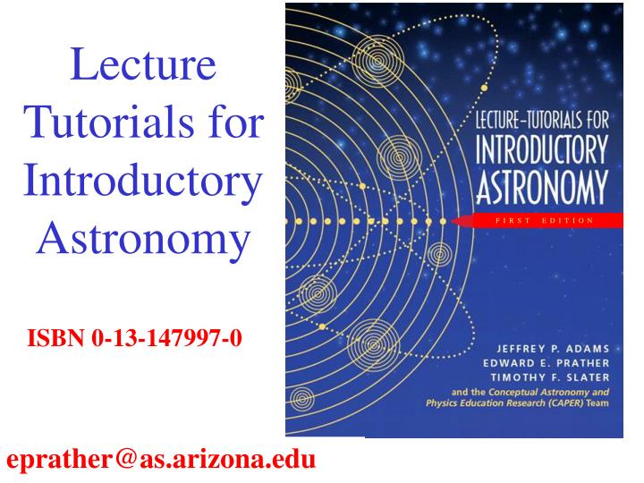 Lecture tutorials for introductory astronomy l.jpg