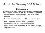 criteria for choosing eco options1