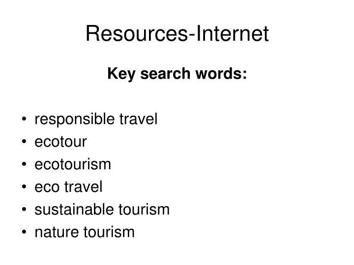 Resources-Internet