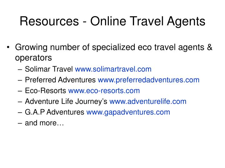 Resources - Online Travel Agents