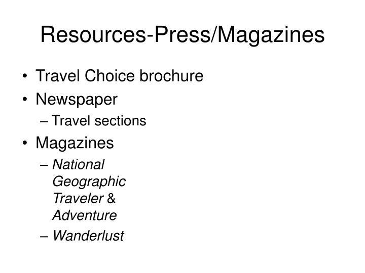 Resources-Press/Magazines