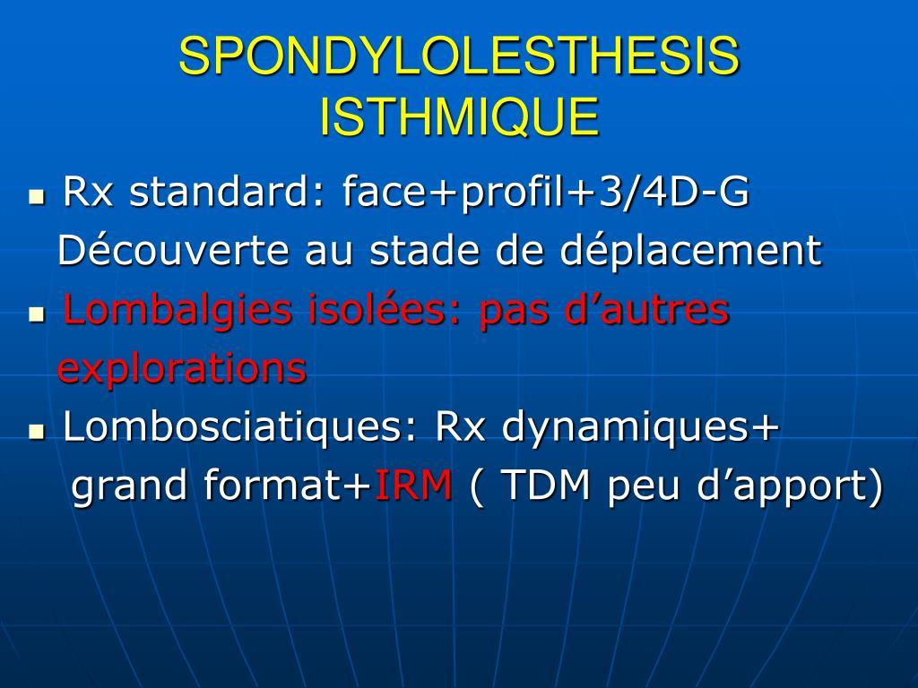 SPONDYLOLESTHESIS