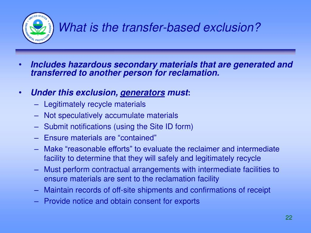 What is the transfer-based exclusion?
