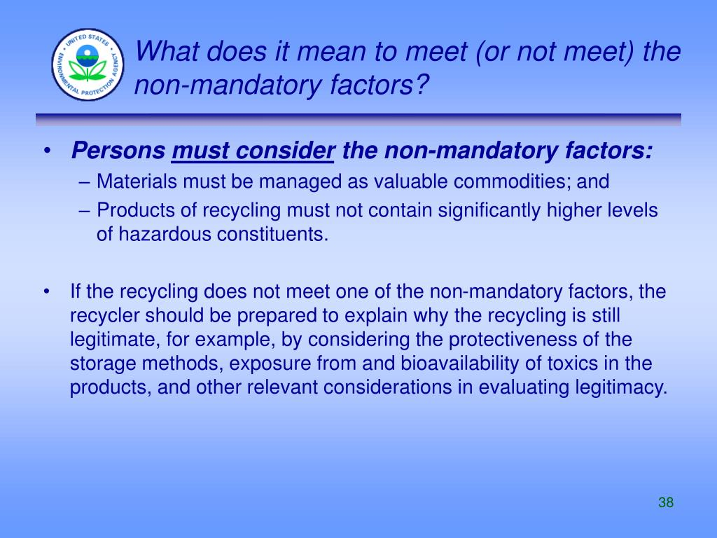 What does it mean to meet (or not meet) the non-mandatory factors?