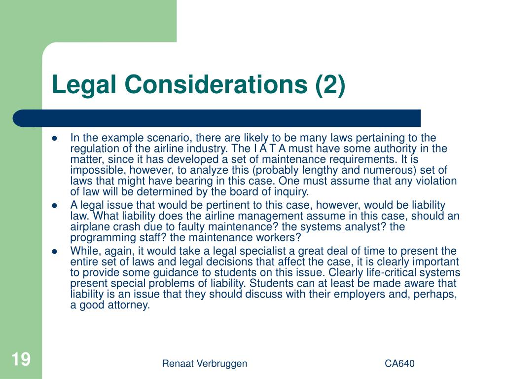Legal Considerations (2)