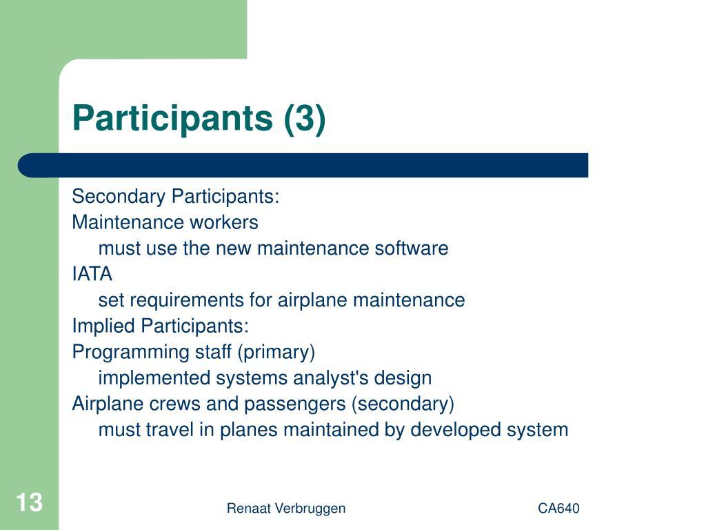 Participants (3)