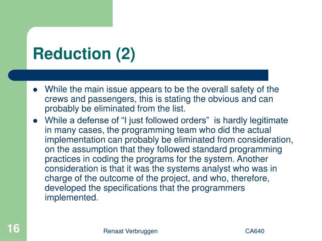 Reduction (2)