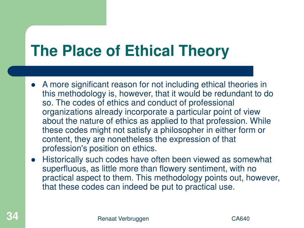 The Place of Ethical Theory
