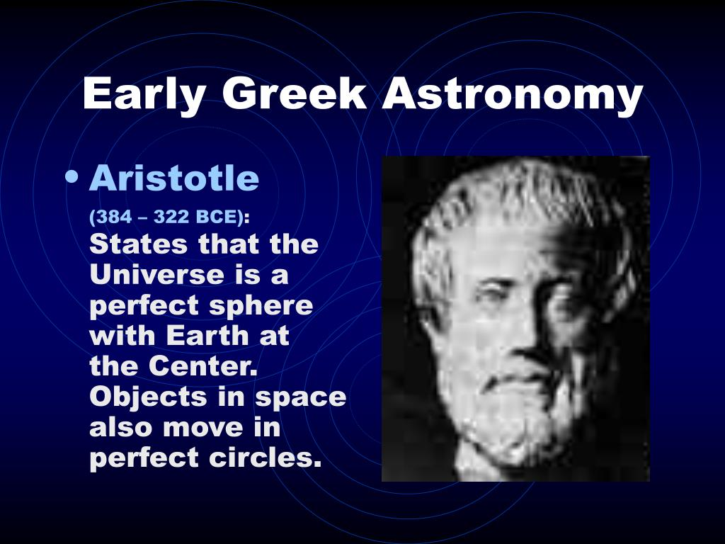 Early Greek Astronomy