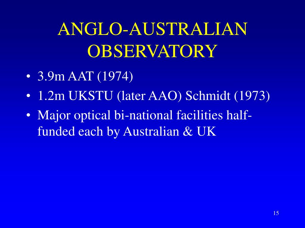 ANGLO-AUSTRALIAN OBSERVATORY