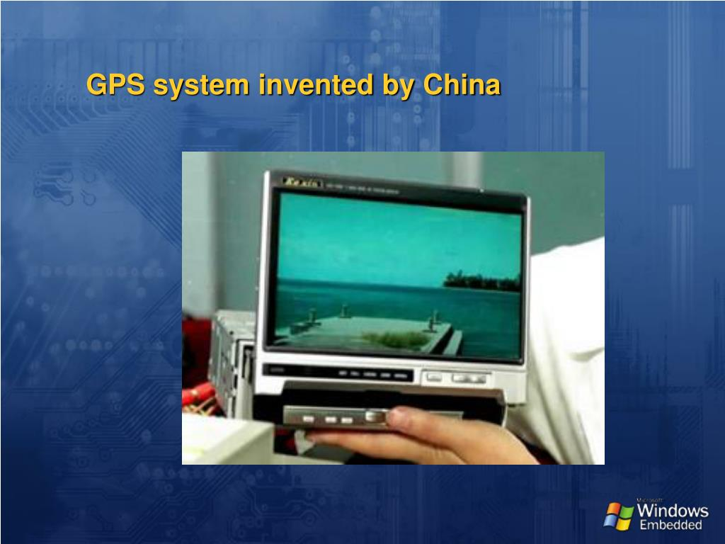 GPS system invented by China