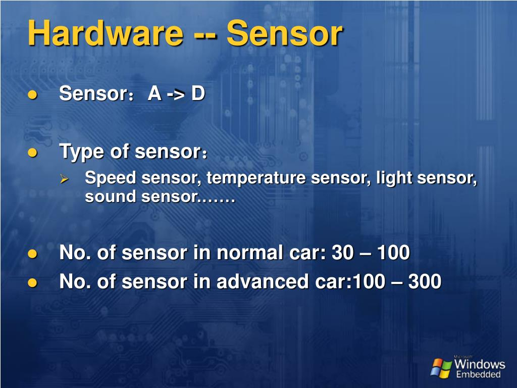Hardware -- Sensor
