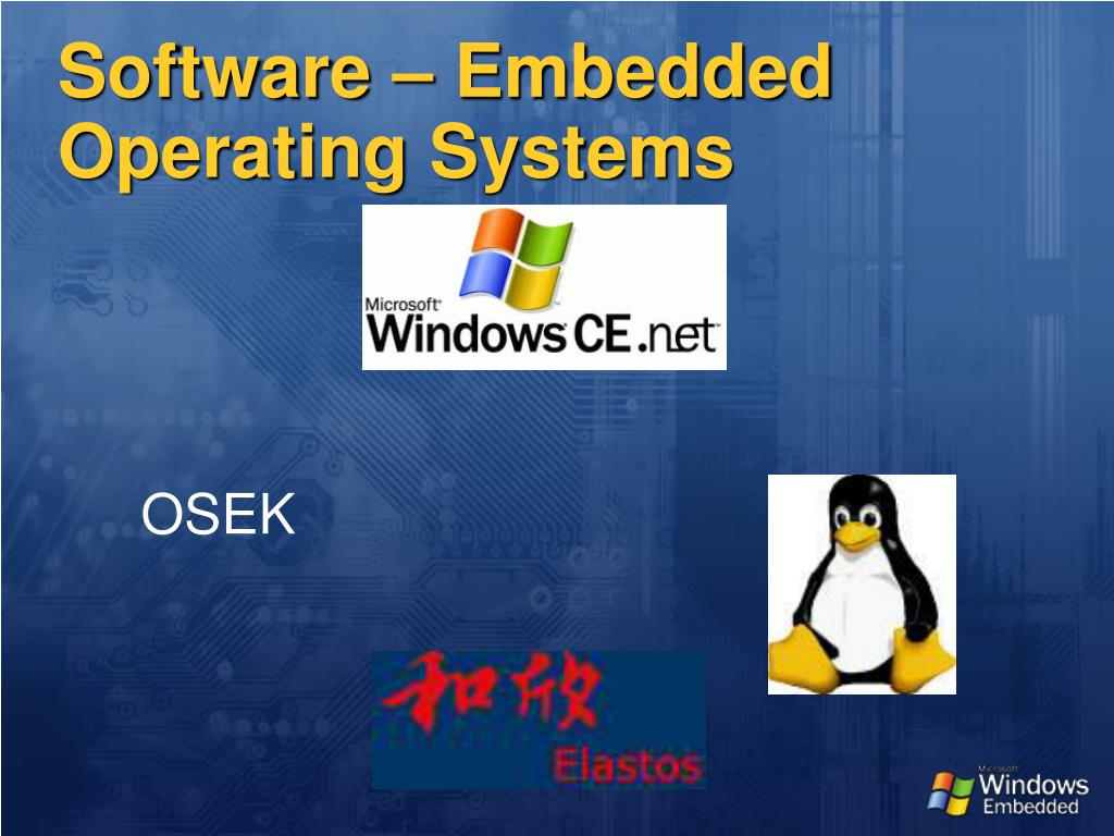 Software – Embedded Operating Systems