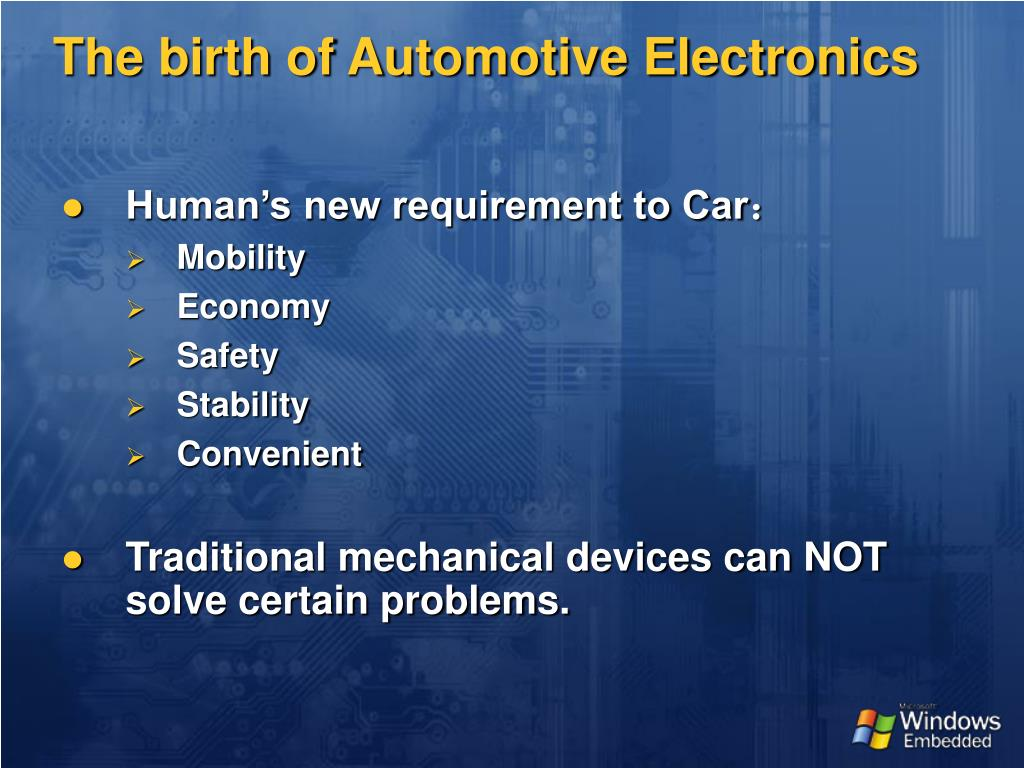 The birth of Automotive Electronics