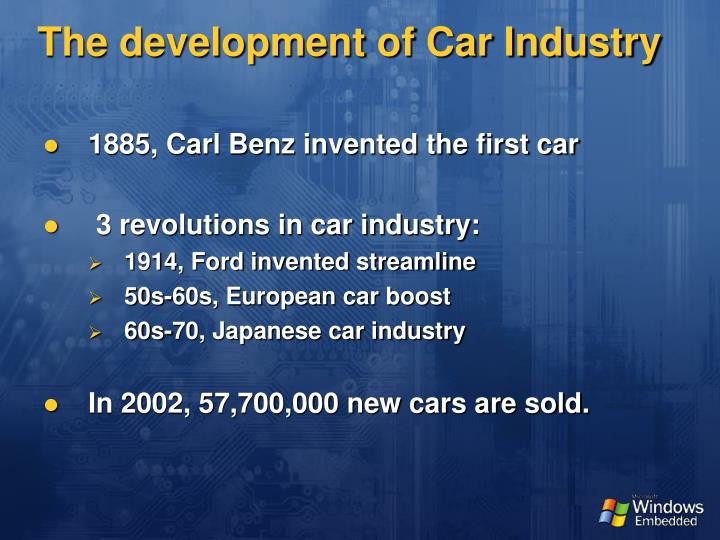 The development of car industry