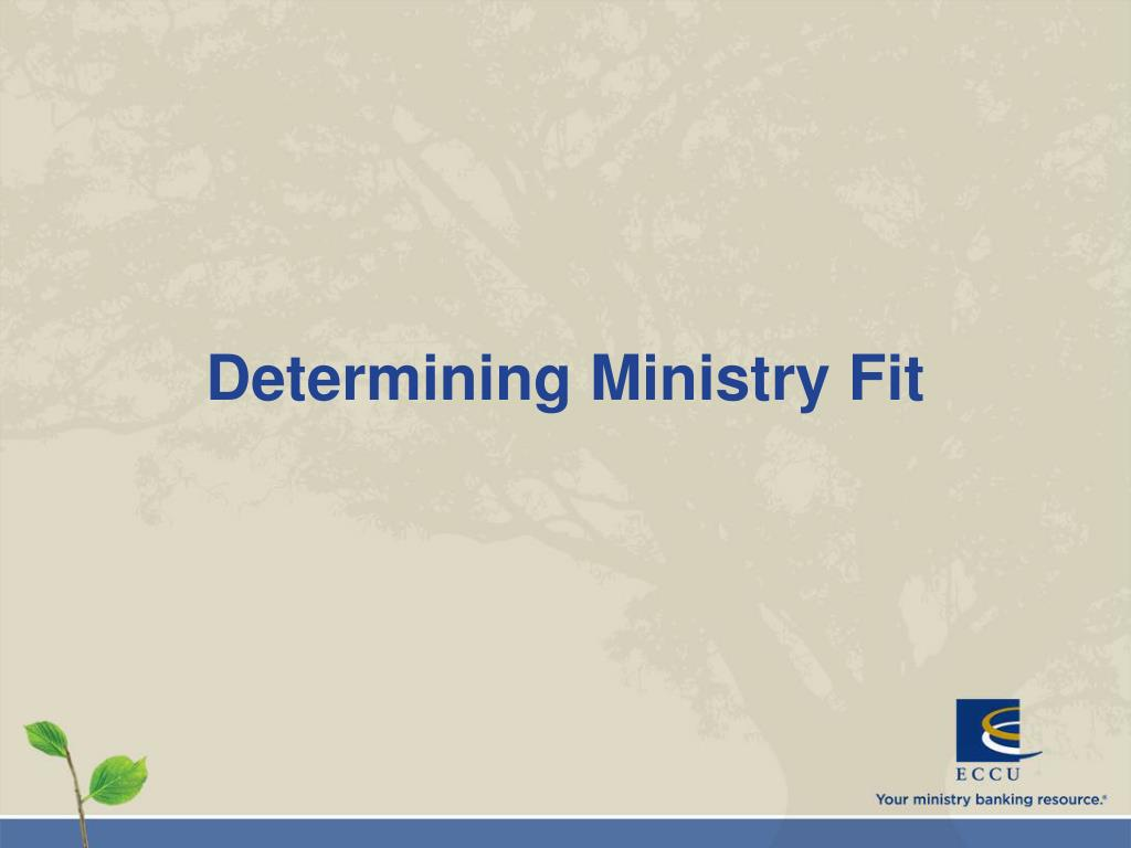 Determining Ministry Fit