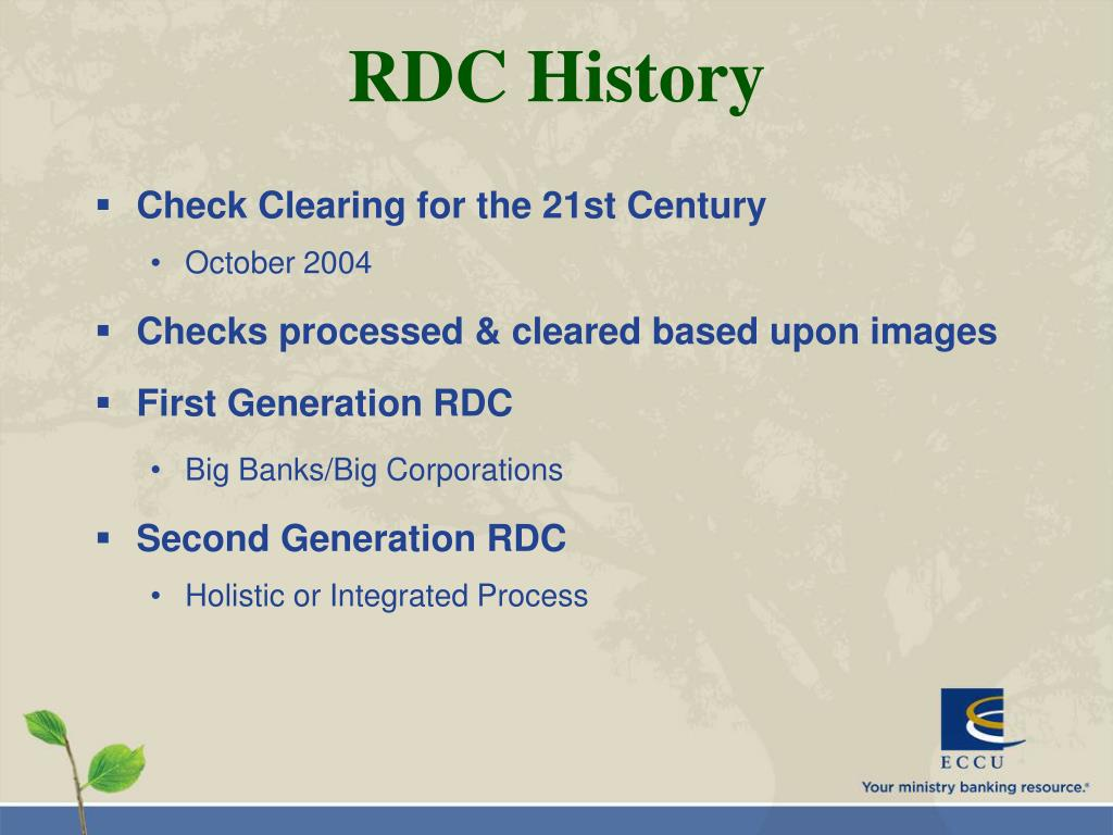 RDC History