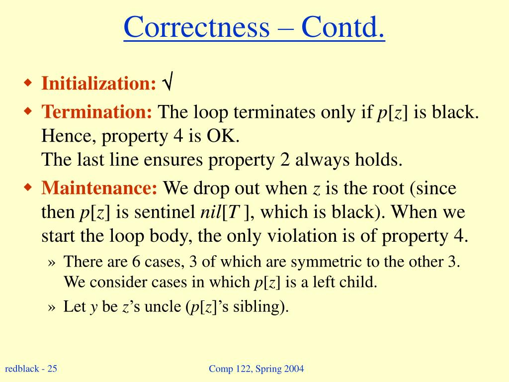 Correctness – Contd.
