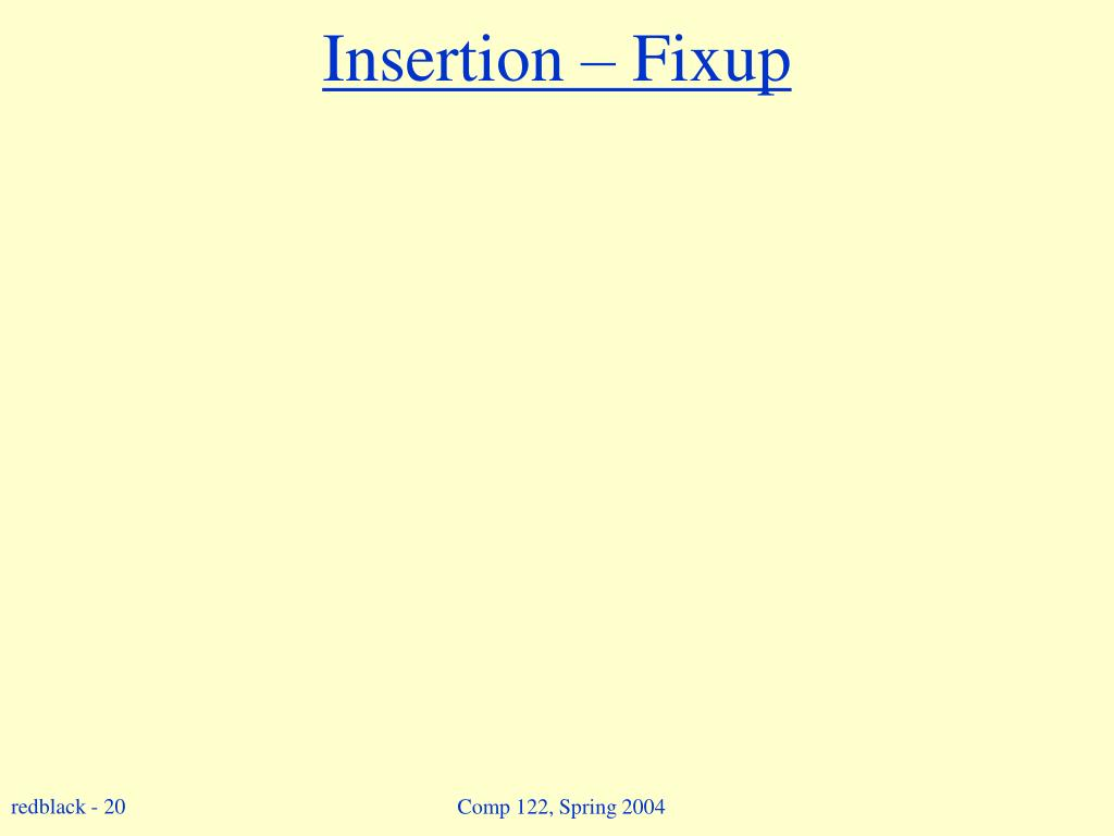 Insertion – Fixup