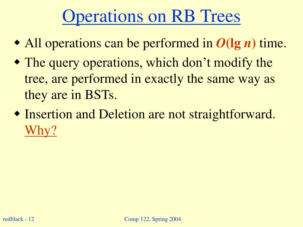 Operations on RB Trees