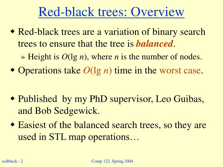 Red black trees overview l.jpg