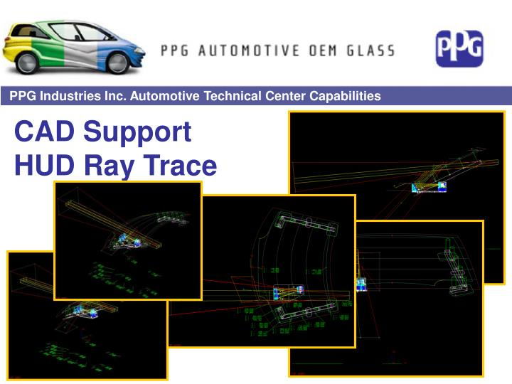 Cad support hud ray trace