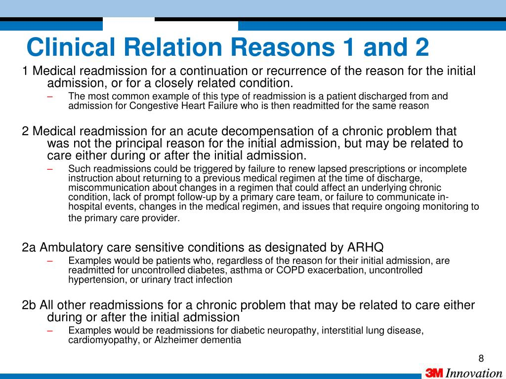 Clinical Relation Reasons 1 and 2